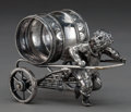 Silver Holloware, American:Napkin Rings, AN AMERICAN SILVER-PLATED FIGURAL NAPKIN RING . Maker unknown,American, circa 1875. Unmarked. 3 inches high (7.6 cm). 7.0 o...