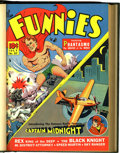 Golden Age (1938-1955):Miscellaneous, The Funnies #57-62 Bound Volume (Dell, 1941)....