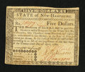 Colonial Notes:New Hampshire, New Hampshire April 29, 1780 $5 Very Fine.. ...