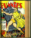 Golden Age (1938-1955):Miscellaneous, The Funnies #28-56 Bound Volume (Dell, 1939-41).... (Total: 4 )