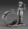 Silver Holloware, American:Napkin Rings, A REED & BARTON SILVER-PLATED FIGURAL NAPKIN RING . Reed &Barton, Taunton, Massachusetts, circa 1875. Marks: MF'D &PLATE...