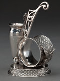 Silver Holloware, American:Napkin Rings, A ROCKFORD SILVER-PLATED FIGURAL NAPKIN RING . Rockford SilverPlate Co., Rockford, Illinois, circa 1880. Marks: ROCKFORD...
