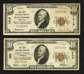 National Bank Notes:Maryland, Baltimore, MD - $10 1929 Ty. 1 The First NB Ch. # 1413;. SaintPaul, MN - $10 1929 Ty. 1 The First NB Ch. # 203... (Total: 2notes)