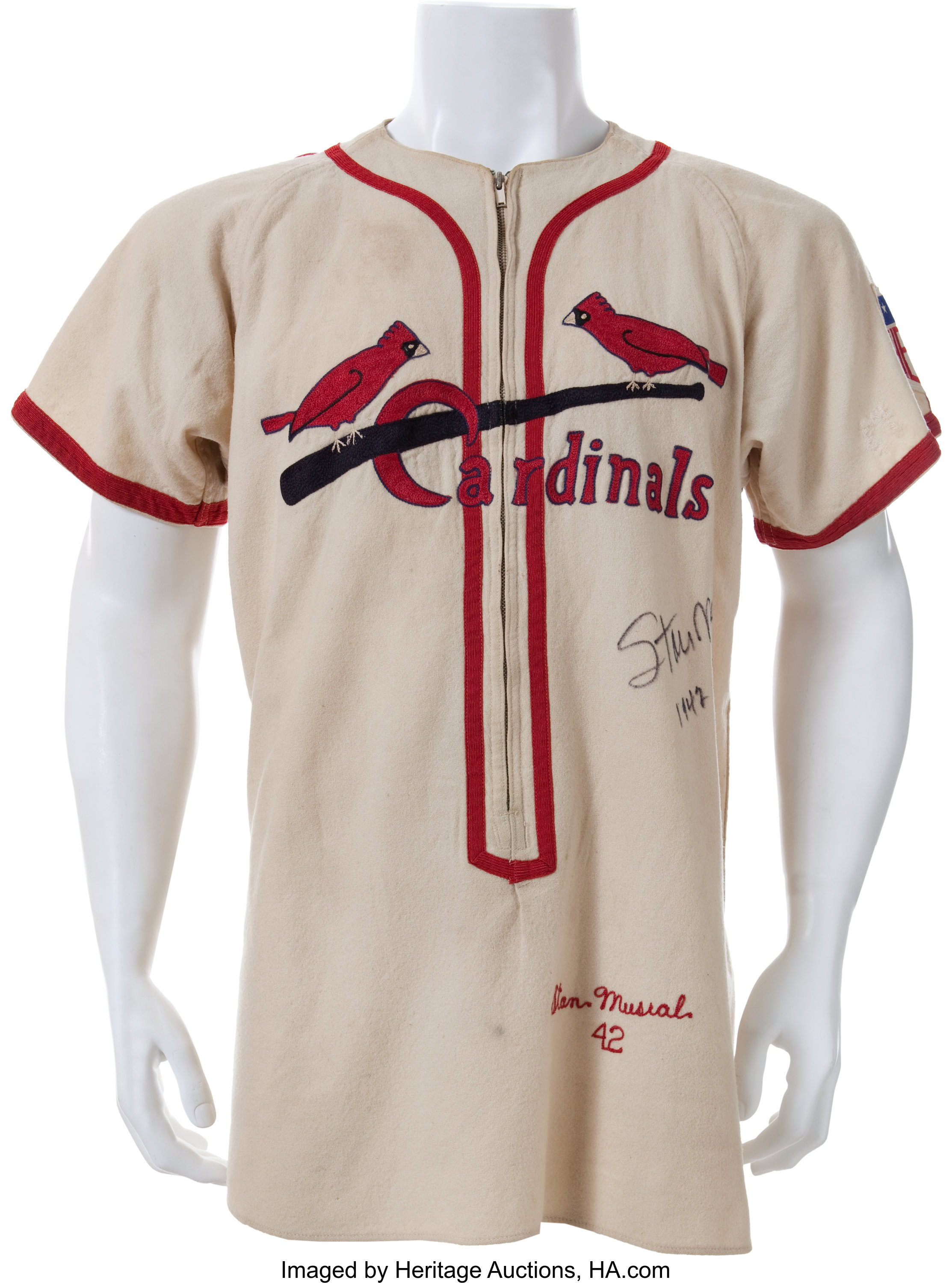 factory authentic c1672 43a86 1942 Stan Musial Game Worn St. Louis Cardinals Rookie ...