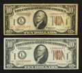 Small Size:World War II Emergency Notes, Fr. 2303 $10 1934A Hawaii Federal Reserve Notes. Two Examples. Fine-Extremely Fine.. ... (Total: 2 notes)