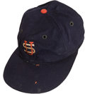 Baseball Collectibles:Uniforms, 1934 Lou Gehrig Tour of Japan Game Worn Cap....