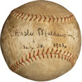 Autographs:Baseballs, 1923 Christy Mathewson Single Signed Baseball....