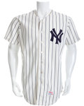 Baseball Collectibles:Uniforms, 1977 Mickey Mantle Game Worn New York Yankees Coach's Uniform....