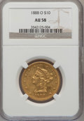 Liberty Eagles: , 1888-O $10 AU58 NGC. NGC Census: (70/455). PCGS Population(51/310). Mintage: 21,335. Numismedia Wsl. Price for problem fre...