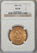 Liberty Eagles: , 1884 $10 AU58 NGC. NGC Census: (133/160). PCGS Population (76/122).Mintage: 76,800. Numismedia Wsl. Price for problem free...