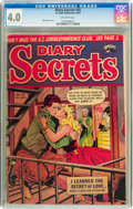 Golden Age (1938-1955):Romance, Diary Secrets #25 (St. John, 1954) CGC VG 4.0 Off-white pages....