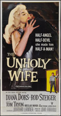 "Movie Posters:Crime, The Unholy Wife (RKO, 1957). Three Sheet (41"" X 81""). Crime.. ..."