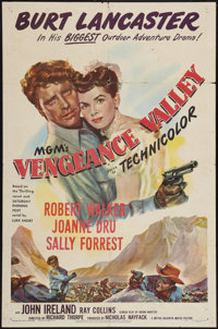 "Vengeance Valley (MGM, 1951). One Sheet (27"" X 41""). Western"