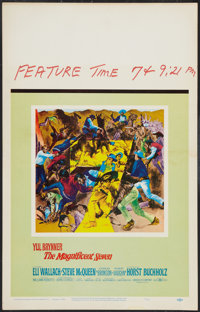 """The Magnificent Seven (United Artists, 1960). Window Card (14"""" X 22""""). Western"""