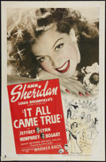 "Movie Posters:Crime, It All Came True (Warner Brothers, 1940). One Sheet (27"" X 41"").Crime.. ..."