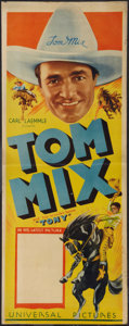 "Movie Posters:Western, Tom Mix (Universal, 1933). Stock Insert (14"" X 36""). Western.. ..."