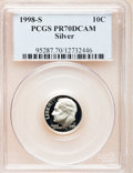 Proof Roosevelt Dimes: , 1998-S 10C Silver PR70 Deep Cameo PCGS. PCGS Population (141). NGCCensus: (296). Numismedia Wsl. Price for problem free N...