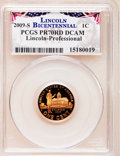 Proof Lincoln Cents, 2009-S 1C Bicentennial Lincoln-Professional PR70 Red Deep CameoPCGS. PCGS Population (283). NGC Census: (1676). Numismedi...