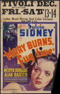 """Movie Posters:Crime, Mary Burns, Fugitive (Paramount, 1935). Window Card (14"""" X 22""""). Crime.. ..."""