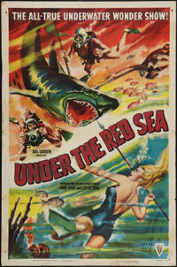 """Under the Red Sea (RKO, 1952). One Sheet (27"""" X 41""""). Documentary"""