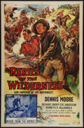 "Movie Posters:Serial, Perils of the Wilderness (Columbia, 1955). One Sheet (27"" X 41"") Chapter 12 -- ""Rescue from the Rapids."" Serial.. ..."