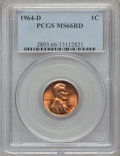 Lincoln Cents: , 1964-D 1C MS66 Red PCGS. PCGS Population (244/8). NGC Census:(248/6). Mintage: 3,799,071,488. Numismedia Wsl. Price for pr...