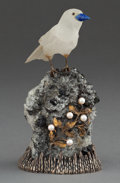Silver Holloware, Continental:Holloware, A BUCCELLATI SILVER, PEARL AND HARDSTONE BIRD WITH BOX .Buccellati, Milan, Italy, circa 1950 . Marks: BUCCELLATI, ITALY,... (Total: 2 Items)