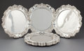 Silver Holloware, American:Plates, A SET OF TWELVE AMERICAN SILVER CHARGERS . Maker unknown, American,circa 1950. Marks: STERLING. 12-1/2 inches diameter ...(Total: 12 Items)