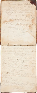 Autographs:Military Figures, Revolutionary War: British General Charles Grey's Orderly Book,1778....