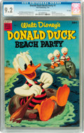 Golden Age (1938-1955):Funny Animal, Dell Giant Comics Donald Duck Beach Party #1 File Copy (Dell, 1954)CGC NM- 9.2 Off-white to white pages....