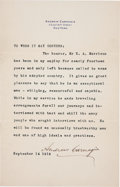Autographs:Inventors, Andrew Carnegie Typed Letter Signed....