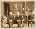 Photography:Studio Portraits, Historic Photograph of Andrew Carnegie at Thomas A. Edison's Sound Studio in the Bronx....