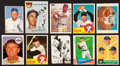 Baseball Cards:Autographs, Baseball Greats Signed Vintage Cards Lot of 10....