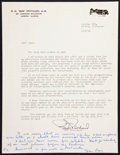 Baseball Collectibles:Others, Eppa Rixey Handwritten and Signed Note....