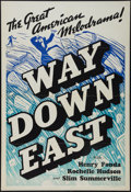 "Movie Posters:Drama, Way Down East (20th Century Fox, 1935). Leader Press One Sheet (28"" X 41""). Drama.. ..."
