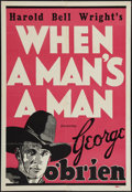 "Movie Posters:Western, When a Man's a Man (Fox, 1935). Leader Press One Sheet (28"" X 41""). Western.. ..."