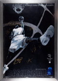 Basketball Collectibles:Photos, 2000 U.S.A. Olympic Team Multi Signed Poster....