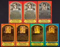 Baseball Collectibles:Others, Baseball Legends Signed Post Card HOF Plaques Collection (7). ...