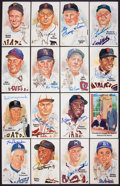 Baseball Collectibles:Others, Baseball Great Signed Perez Steele Cards Lot of 16 - With GeorgeBush Postcard ....