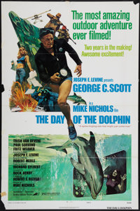 """The Day of the Dolphin & Other Lot (Avco Embassy, 1973). One Sheets (4) (27"""" X 41"""") Style D and Regular St..."""