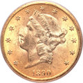 Liberty Double Eagles, 1890-CC $20 MS62 PCGS. CAC. Variety 1-A....