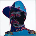Movie/TV Memorabilia:Memorabilia, An Andy Warhol Limited Edition Signed Print from the 'Cowboys andIndians' Series, 1986....