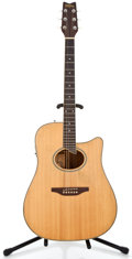 Musical Instruments:Acoustic Guitars, Recent Washburn Stephen Davies Natural Acoustic Electric Guitar #95354...
