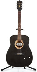 Musical Instruments:Acoustic Guitars, 1970's Harmony H6162 Sovereign Black Acoustic Guitar ...