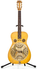 Musical Instruments:Horns & Wind Instruments, 1973 Dobro Gold Hardware Natural Resonator Guitar #815534D...