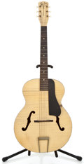 Musical Instruments:Acoustic Guitars, 1960's Silvertone Wall Hanger Blonde Archtop Acoustic Guitar ...