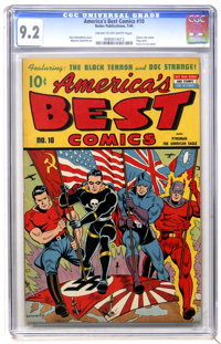 America's Best Comics #10 (Nedor Publications, 1944) CGC NM- 9.2 Cream to off-white pages
