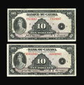 Canadian Currency: , BC-7 $10 1935. BC-8 $10 1935. ... (Total: 2 notes)