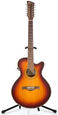 Musical Instruments:Acoustic Guitars, Recent Charvel 625C-12 Cherry Sunburst 12 String Acoustic Guitar#00085980...