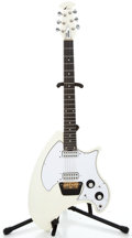 Musical Instruments:Electric Guitars, 1980's Ovation Breadwinner/Shark White Solid Body Electric Guitar #E4174...